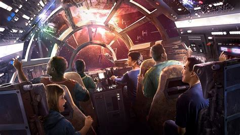 details revealed disneys millennium falcon ride