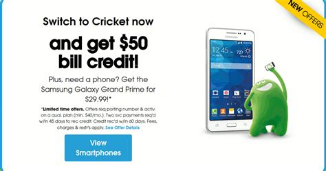 cricket phone service get a 50 bill credit for switching to cricket wireless