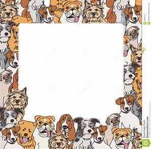 Group Color Dogs Empty Frame Border Stock Vector ...