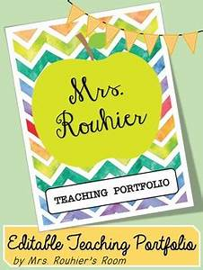editable teaching portfolio template colorful chevron by With teaching portfolio template free