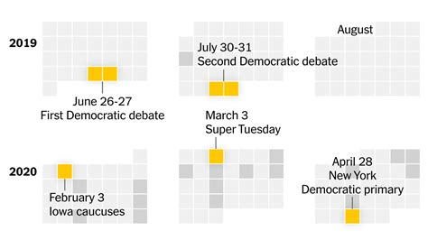presidential election calendar york times