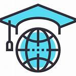 Study Icon Abroad Icons Graduation Student Knowledge