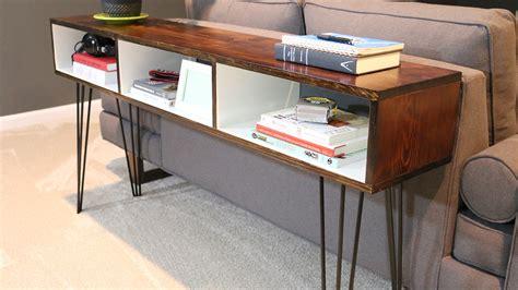 build  mid century modern sofa table diywithrick