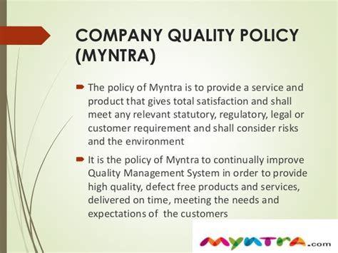 Quality Practices In Myntra