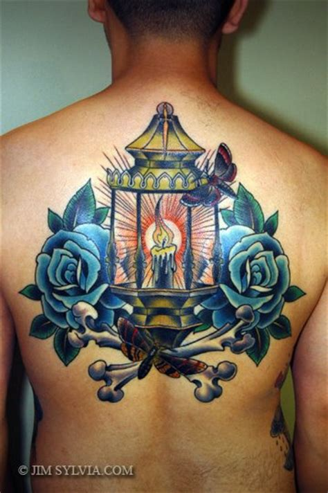 school flower  lamp tattoo  jim sylvia
