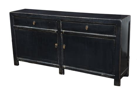 Black Sideboards by Black Sideboard Buffet Cabinet Media Console Solid Wood