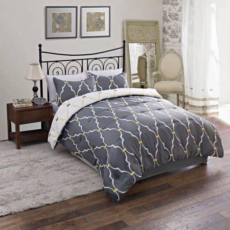 Size Bed Sets Walmart by Trellis Reversible Bedding Comforter Set Walmart