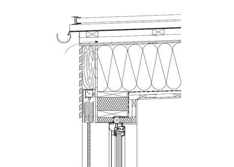 flachdach holzkonstruktion detail stahl dachwasserableitung und rinnen