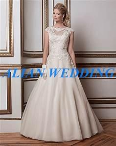 fast shipping high neck wedding dress cap sleeve 2015 With fast shipping wedding dresses