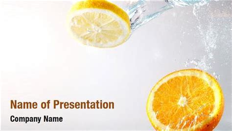 fresh orange juice powerpoint templates fresh orange