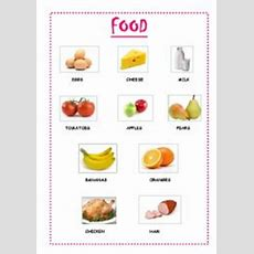 English Worksheets Basic Food Vocabulary