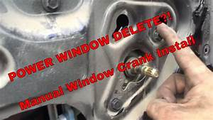 Jeep Parts  Converting My Power Windows To Manual