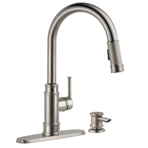 home depot delta kitchen faucets delta allentown single handle pull sprayer kitchen faucet