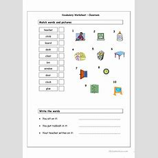 Classroom Vocabulary Worksheet  Free Esl Printable Worksheets Made By Teachers