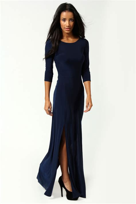 boohoo harriet sleeve split maxi dress ebay