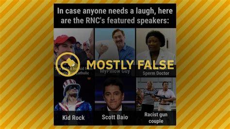 real lineup  speakers   republican
