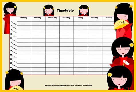 back to school ii free printable school timetable