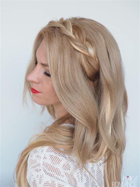 how to braided hairstyles braided headband hairstyle tutorial hair romance