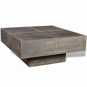 vidaxlcouk black antique style square mango wood With mango wood square coffee table