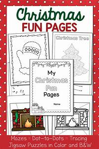 Christmas Fun Pages Packet - Dot-to-dots  Mazes  Tracing