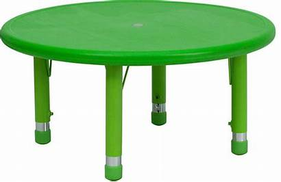Table Plastic Chairs Round Tables Adjustable Activity