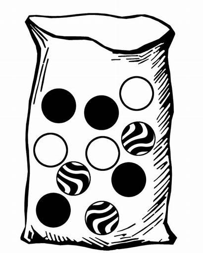 Clipart Probability Marbles Bag Marble Ten Etc