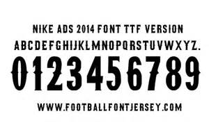 Football Jersey Font