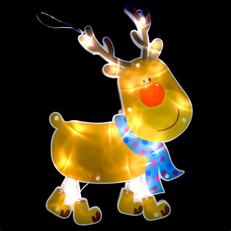 32cm light up led reindeer silhouette christmas wall
