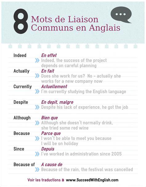 si e social traduction anglais 8 mots de liaison communs en anglais