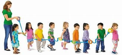 Walking Rope Children Kindergarten Lakeshore Preschool Classroom