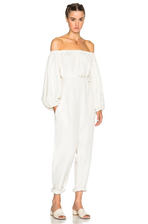 comey jumpsuit comey solin jumpsuit in white lyst