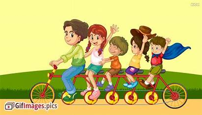 Friends Cycling Animated Friendship Meme Quotes English