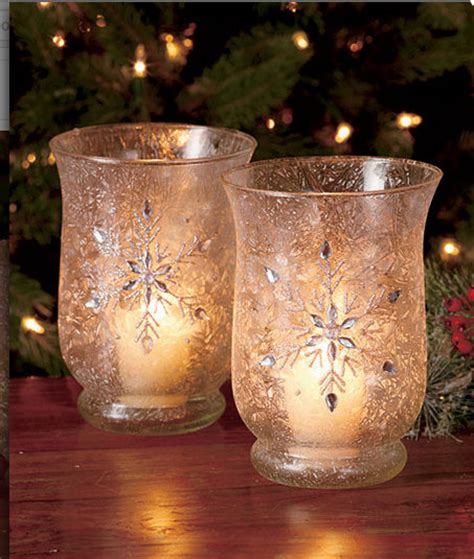 hurricane candle holders votive candle frosted christmas