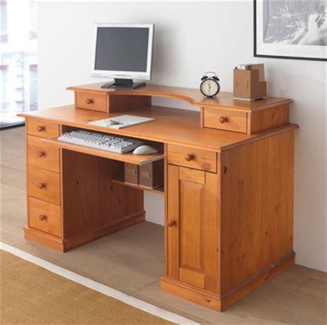 bureau informatique bois massif abi