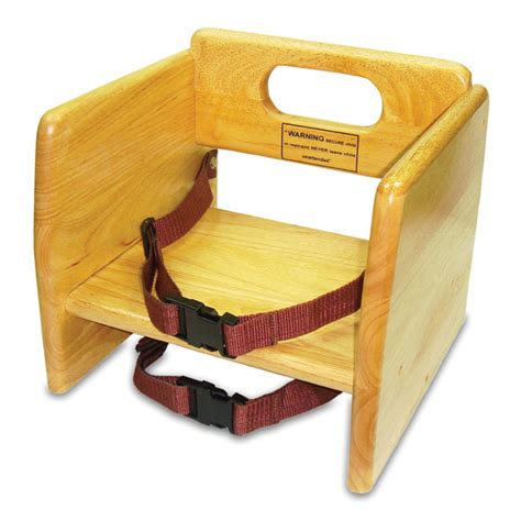 wood restaurant booster seat