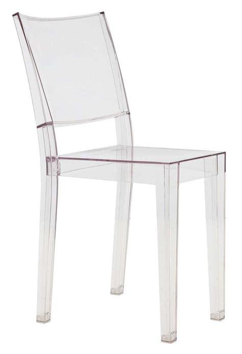 chaise empilable la transparente polycarbonate cristal kartell