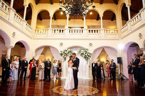 Bride and Groom First Dance at Tampa Wedding Venue Avila