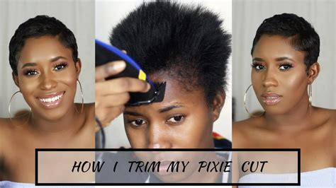 How I Cut, Relax & Style My Short Hair At Home   Pixie Cut