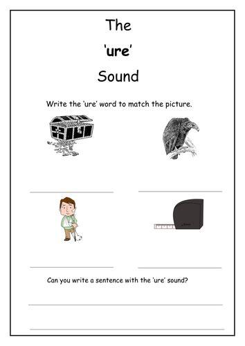 phonics ure sound worksheet by laurenstuart teaching