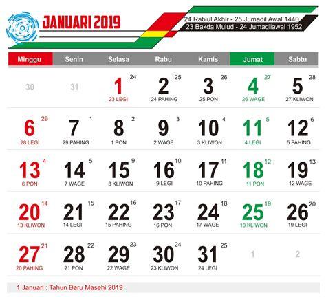 Download Master Kalender Tahun 2019 Lengkap Cdr Dan Jpeg
