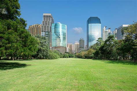 building background city park with modern building background flickr photo