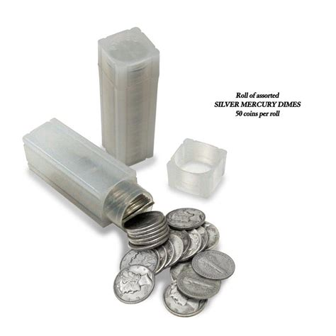 how many dimes are in a roll number of coins in a roll of dimes