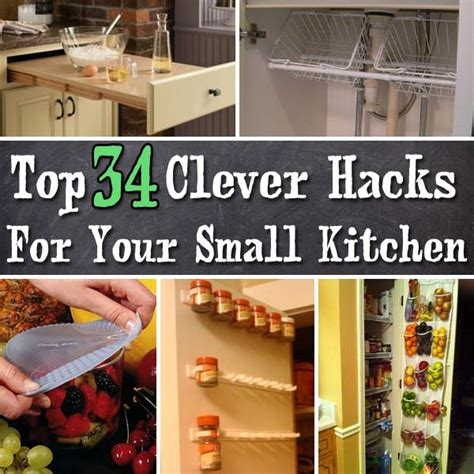 Kitchen Hacks For Small Kitchens top clever hacks and products for small kitchen veryhom