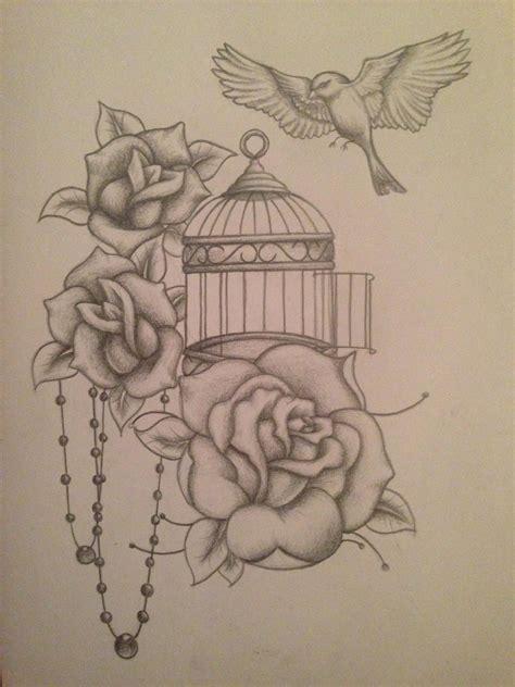 realistic bird tattoos  cage google search  body