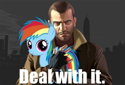 Meme And Niko - niko bellic deal with it by pewdiedash on deviantart