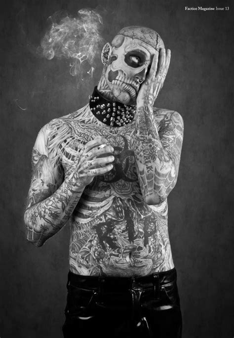 'Zombie Boy' para Factice Magazine. | Rick genest, Boy poses, Halloween poster