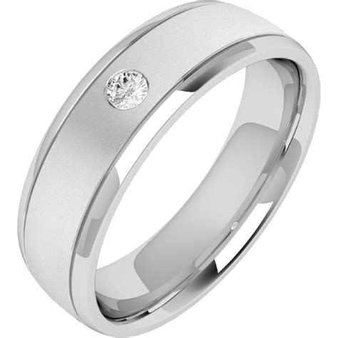 ring wedding ring for in platinum with one brilliant cut