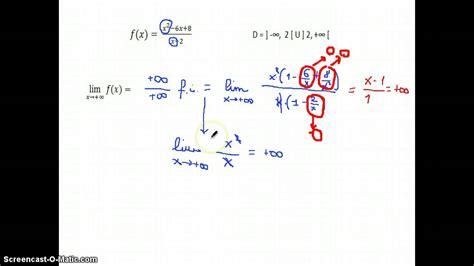 limiti funzione razionale fratta infinito fratto infinito