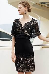 petite robe noire en dentelle dos decollete v persunfr With robes dentelles