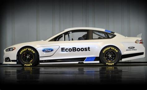 The Side Profile Of The 2013 Ford Fusion Nascar Race Car